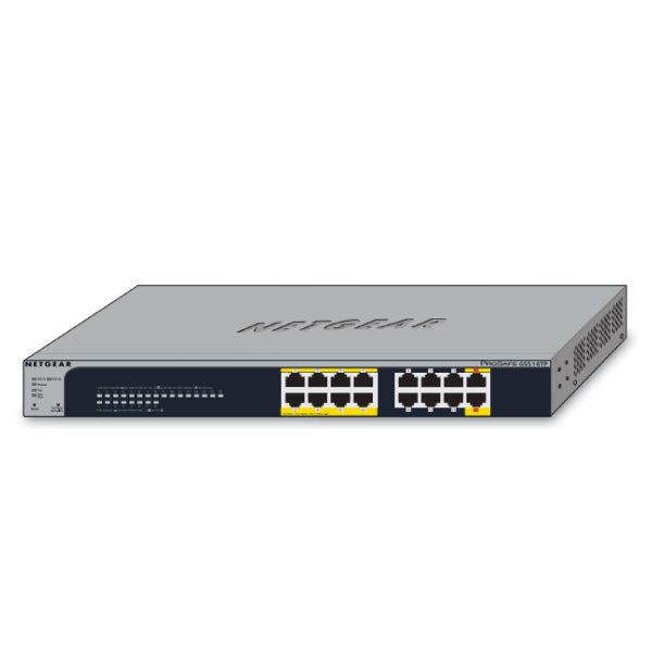 Pro Safe 16 Port Gigabit Smart Switch With Po E And Pd Ports (8 Po E Capable Ports And 2 Pd Ports)