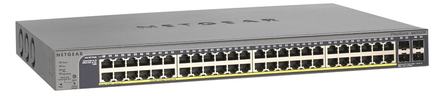 Pro Safe 48 Port Gigabit Smart Switch Bundle   Includes 2.5 G Sfp Stacking Cable