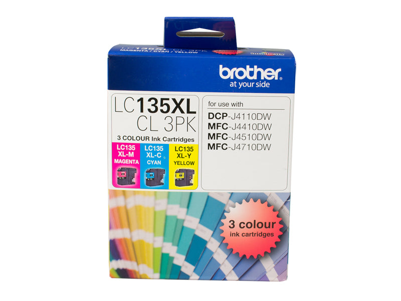 LC135XL COLOUR VALUE PACK 1XCYAN 1X MAGENTA 1X YELLOW