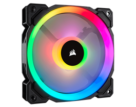 Corsair LL Series, LL120 RGB, 120mm Dual Light Loop RGB LED PWM Fan, Single Pack