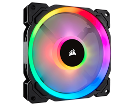 Corsair LL Series, LL140 RGB, 140mm Dual Light Loop RGB LED PWM Fan, Single Pack