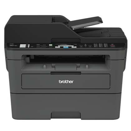BROTHER MFC-L2710DW Wireless Compact Mono Laser All-in-One-30 ppm,LAN,WiFi,Auto 2-Sided,33.6K Super G3 FAX Modem,ADF,2-line LCD
