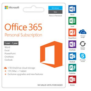 Office 365 Personal 1YR Subscription Medialess P4