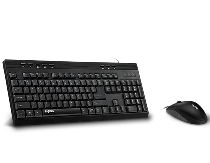 Wired Optical Mouse & Keyboard Combo BLACK Multimedia Keyboard/Full Size/Anti-oxidation sealed membrane/1000 DPI high-definition tracking