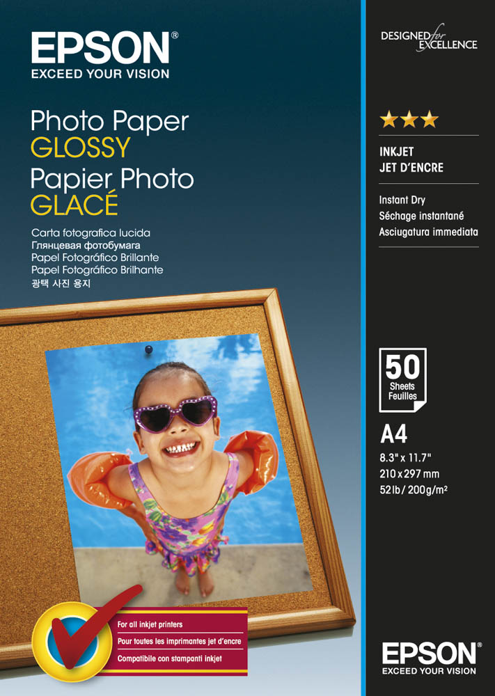 Epson Photo Paper Glossy A4 50 Sheet