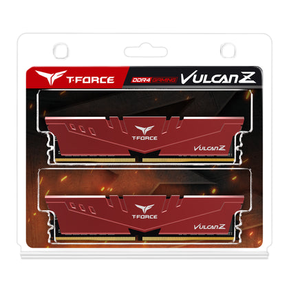 T Force Vulcan Z 16 Gb (2x8 Gb) Dram Ddr4 3200 M Hz Dimm Red Heatspreader