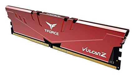 T Force Vulcan Z Series 16 Gb (1x16 Gb) Drr4 Dram 3200 M Hz Red Heatspreader