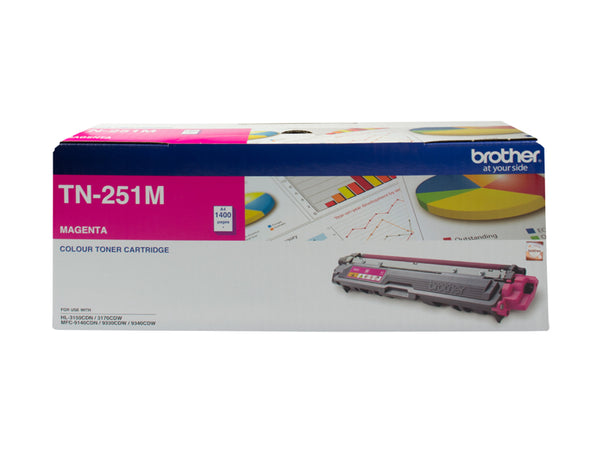 MAGENTA TONER CARTRIDGE TO SUIT HL-3150CDN/3170CDW/MFC-9140CDN/9330CDW/9340CDW (1,400 Pages)