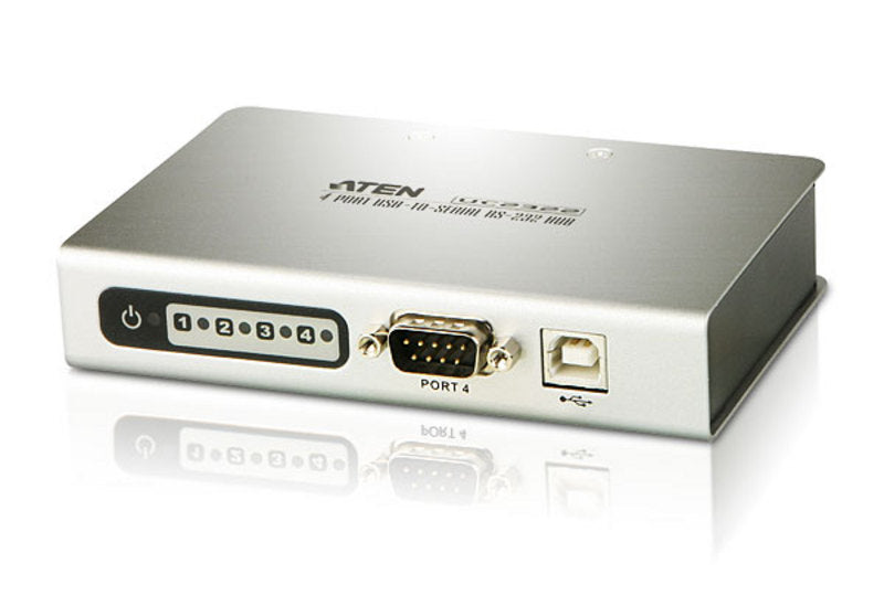 4 Port Usb To Rs 232 Hub. Easy Way To Add 4 Rs 232 Serial Ports.Up To 115.2 Kbps Data Transfer Rate For Each Serial Port