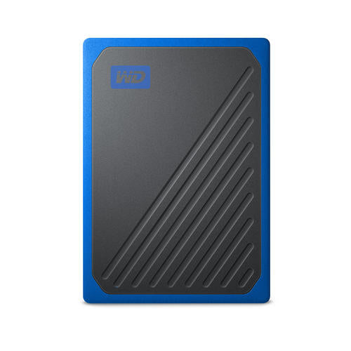 Wd My Passport Go Portable Ssd, 500 Gb, Usb 3.0, Speeds Up To 400 Mb/S, Built In Cable, Cobalt Colored, 3 Y