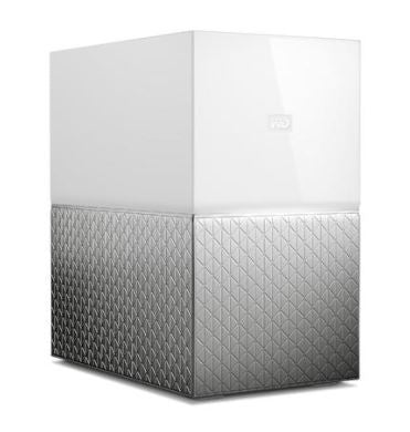 My Cloud Home Duo 20TB Dual-Drive Personal Cloud Storage (NAS),RAID1,Media Server,File Sync,PC/Mac Backup - White
