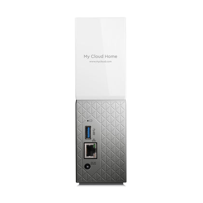 My Cloud Home 4TB Personal Cloud Storage (NAS), Media Server, File Sync,PC/Mac Backup - White