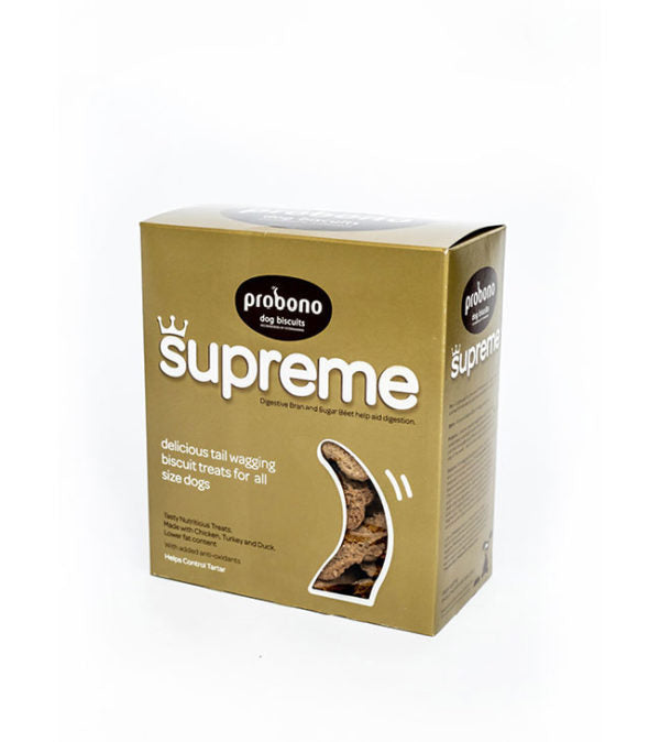 Probono Supreme Dog Biscuits - 650g -EXPIRES APRIL 2020
