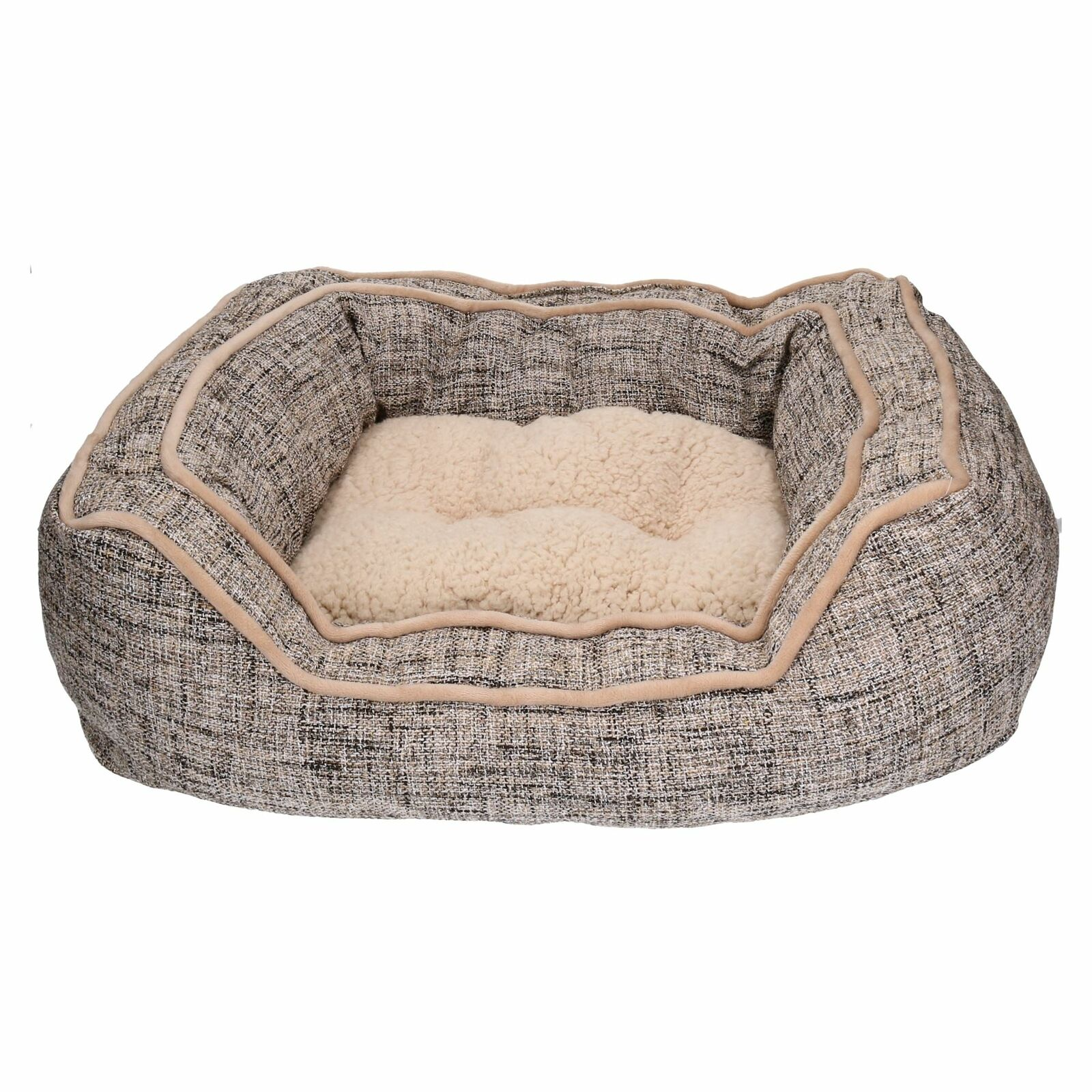 Luxury Slate & Oatmeal  Dog Bed- Medium