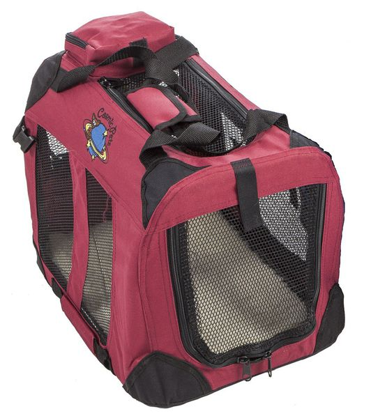 Cosmic Pets Collapsible Carrier - Small ( Maroon) silva-5-pets Cosmic Pets