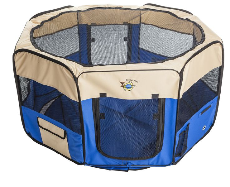 Collapsible Pet Pen Extra Large -Blue silva-5-pets Cosmic Pets