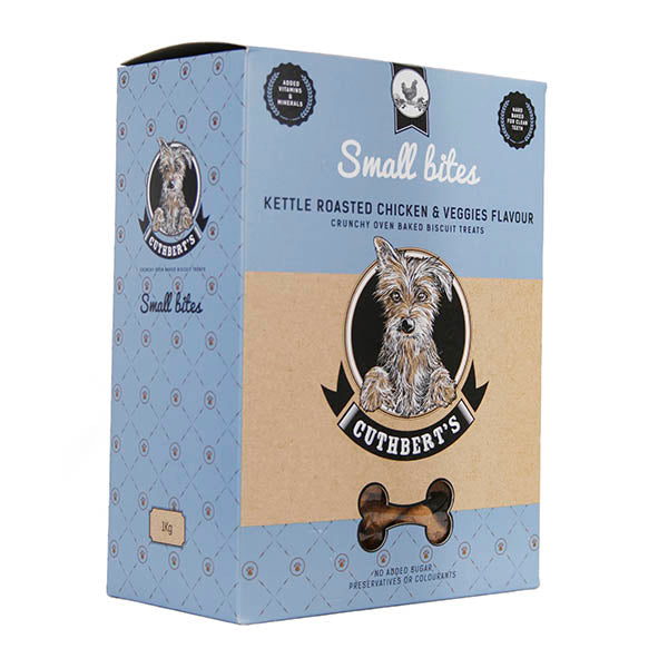 Cuthberts Kettle Roasted Chicken & Veggies Flavoured Dog Biscuit Bites -1KG