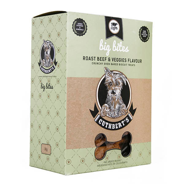 Cuthberts Roast Beef & Veggies Flavoured Dog Biscuit Bites