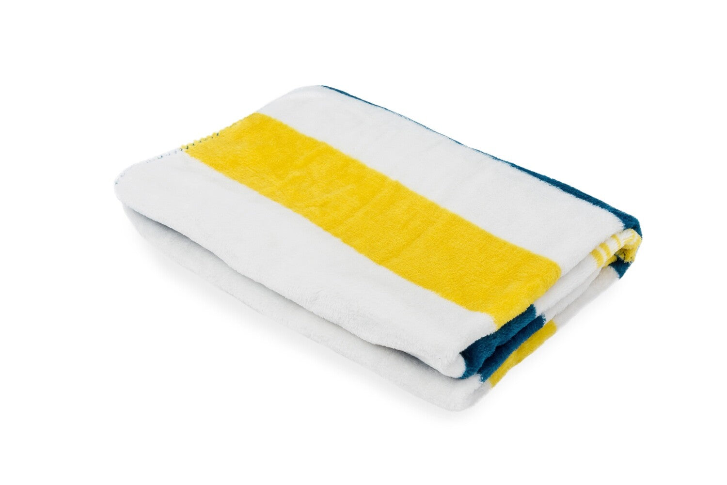 Dog's Life Broad Stripe Pet Blanket - Navy & Yellow
