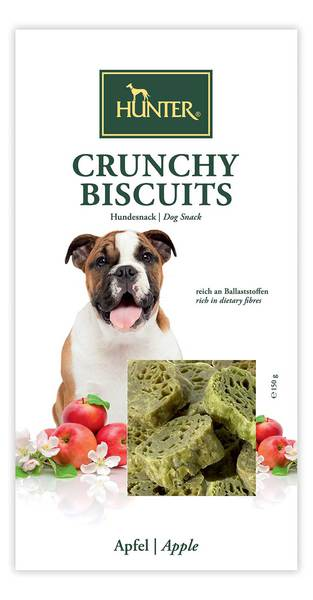 Hunter Crunchy Biscuits – Apple Dog Snack Treats for All sizes of Dogs silva-5-pets Hunter