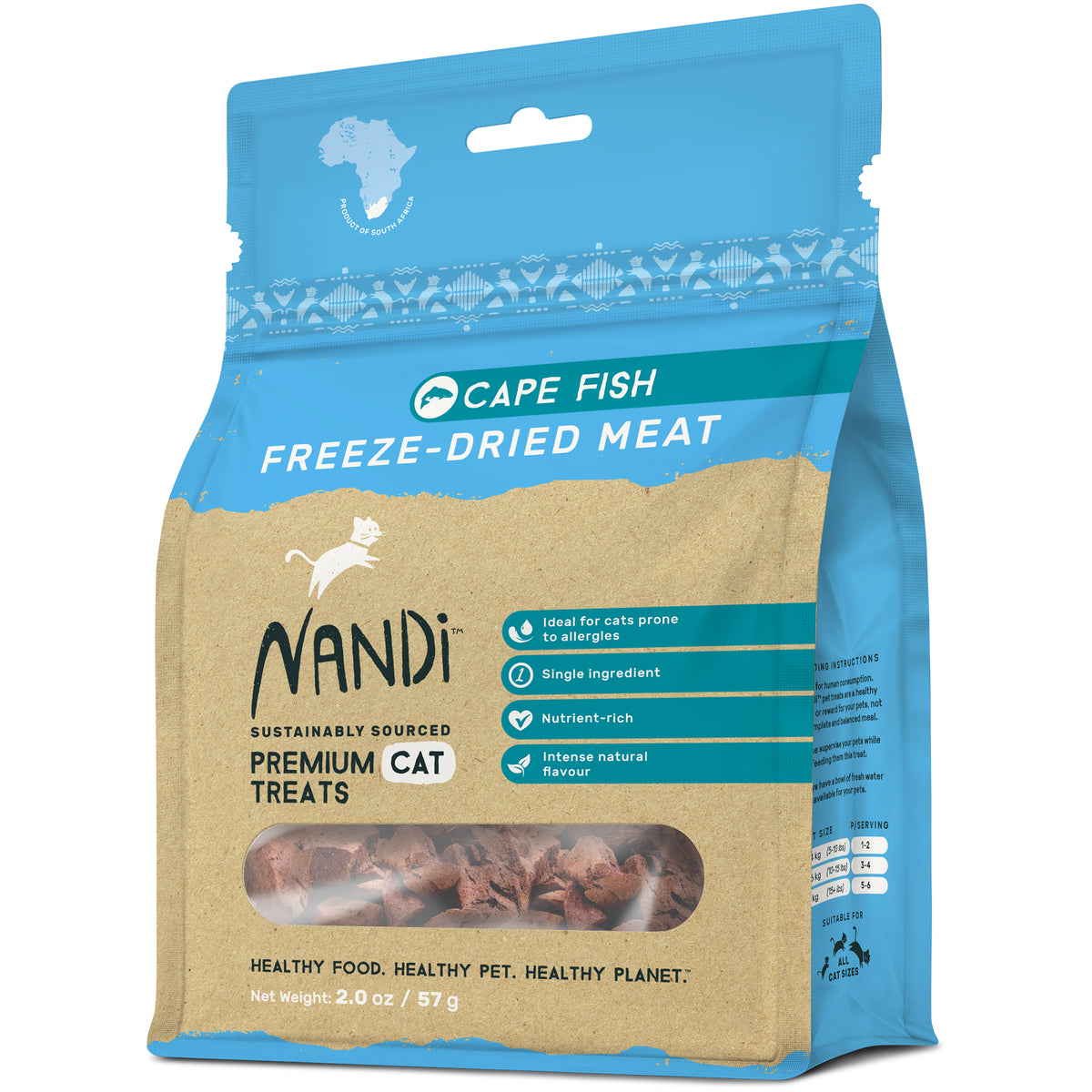 Nandi Freeze Dried Meat Cat Treats -Cape Fish - (57g)
