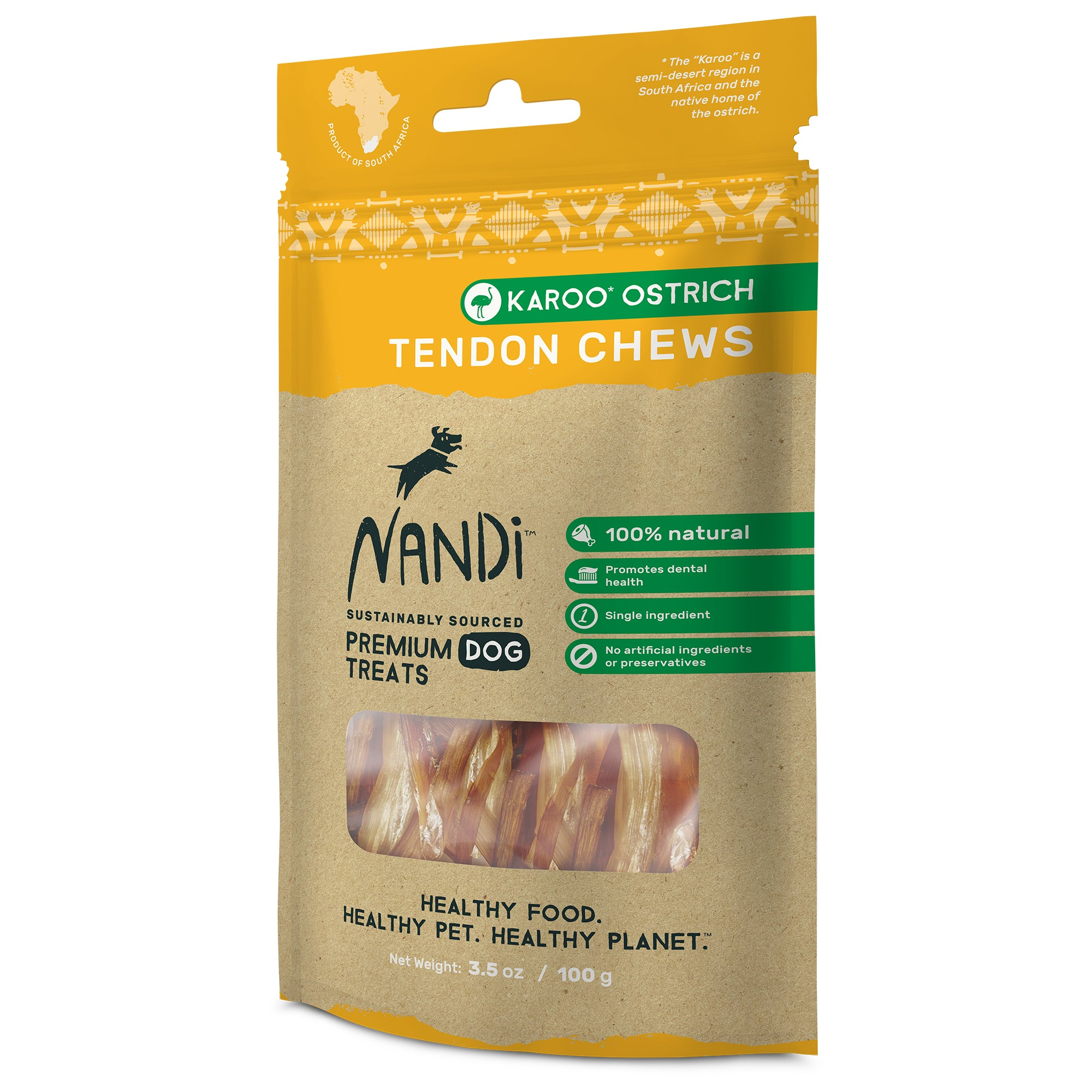 Nandi Tendon Chews Karoo Ostrich (100g)
