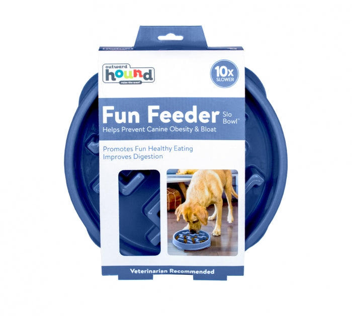 Outward Hound Fun Feeder Notch Blue - Large