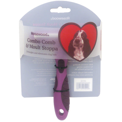 Salon Grooming Combo Comb & Moult Stoppa - silva 5 pets
