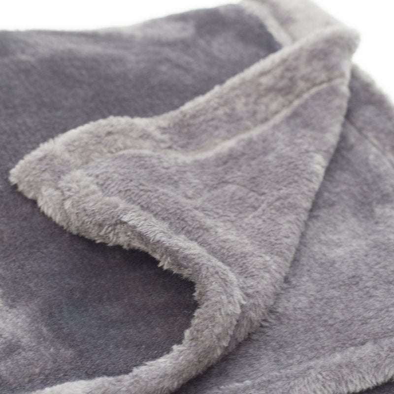 Mongolian Fleece Pet Blanket - Grey