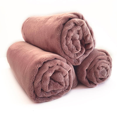 Mongolian  Fleece Pet Blanket - Rose