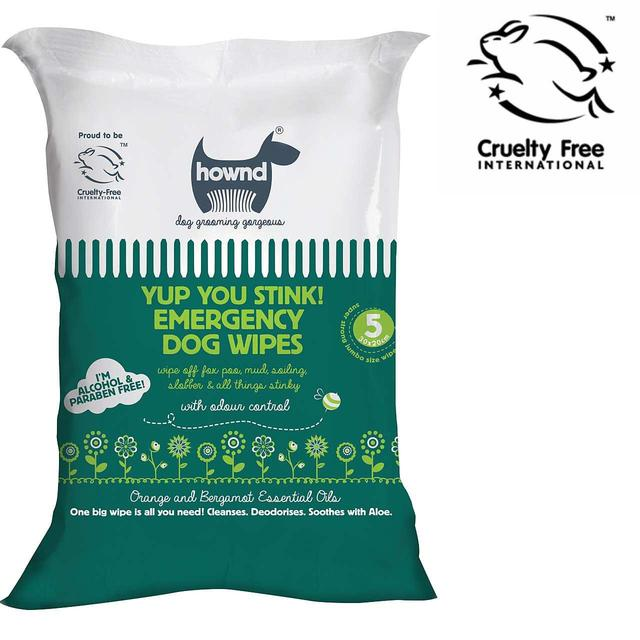 Hownd Yup you stink ! Antibacterial  emergency dog wipes silva-5-pets Hownd