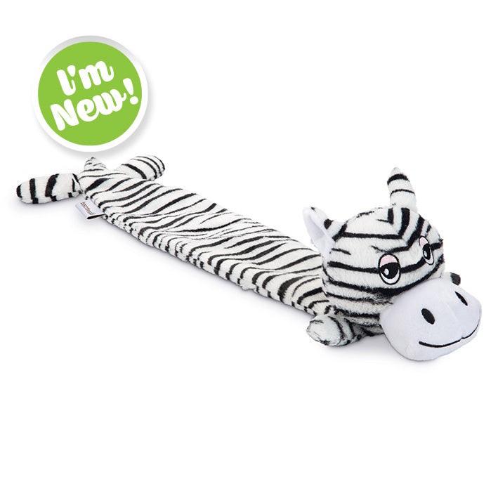Beeztees Zebra Dux Plush Dog Toy