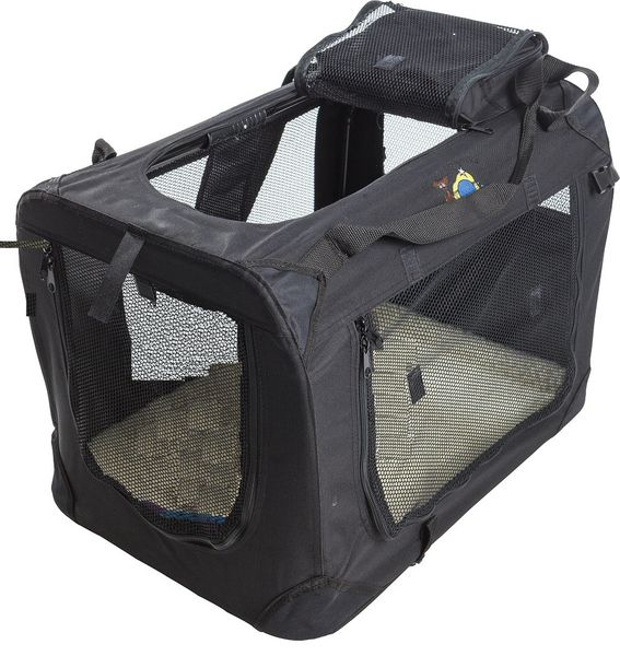 Cosmic Pets Collapsible Carrier - Medium ( Black) silva-5-pets Cosmic Pets