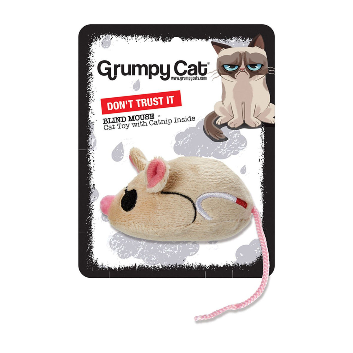 Grumpy Cat Blind Mouse Cat Toy - silva 5 pets