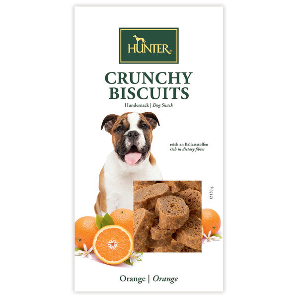 Hunter Crunchy Biscuits – Orange Dog Snack Treats for All sizes of Dogs