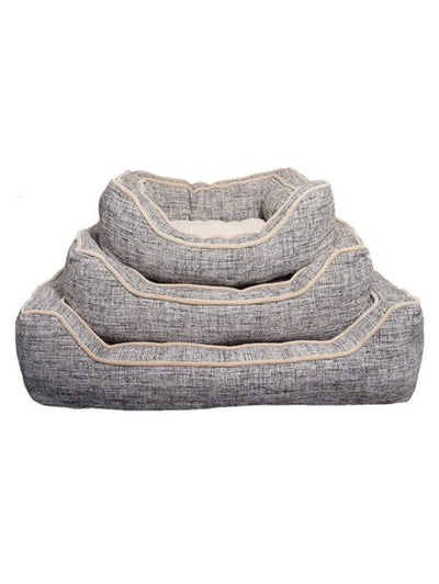 Luxury Slate & Oatmeal  Dog Bed -Large