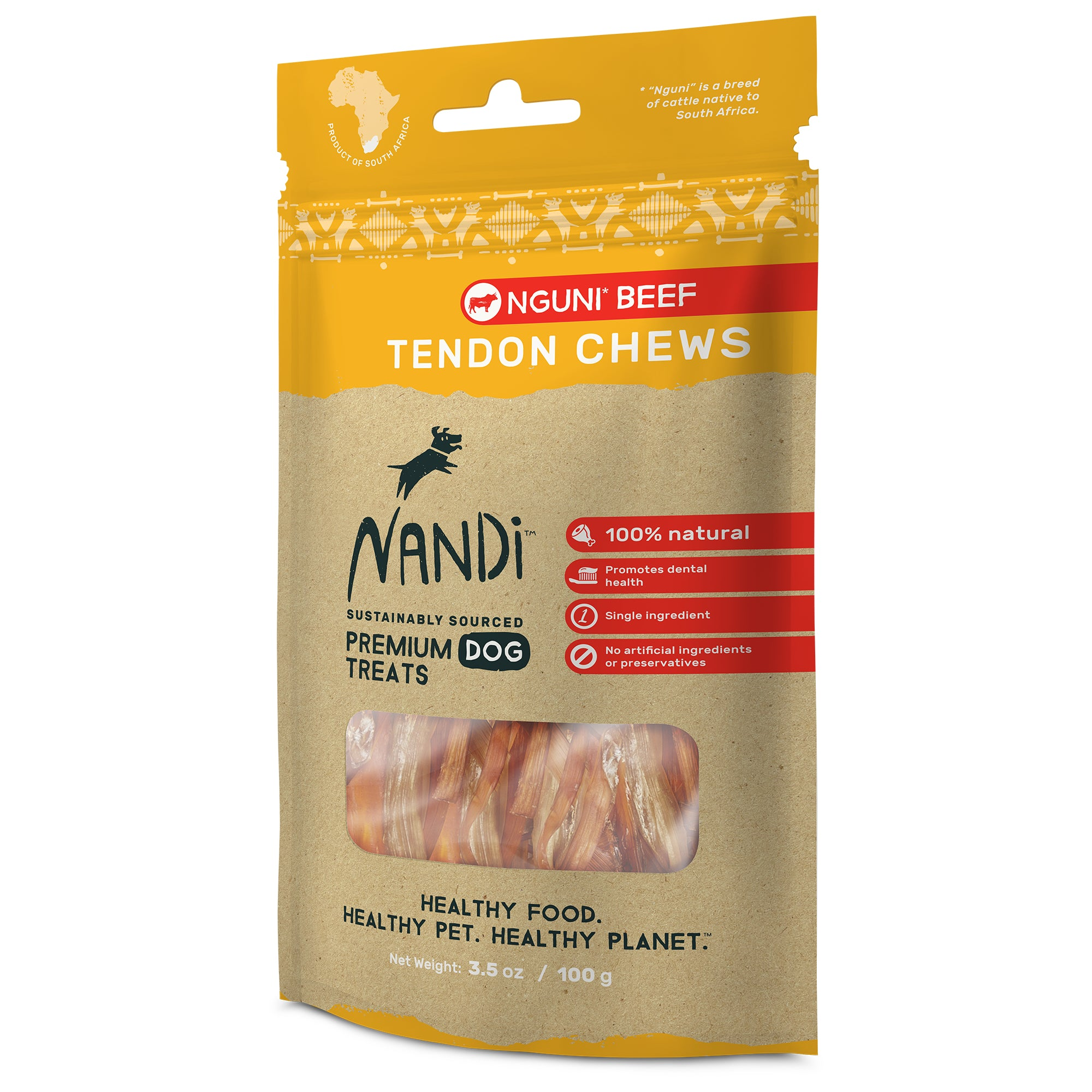 Nandi Tendon Chews Nguni Beef (100g)