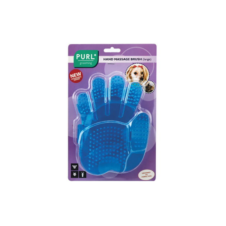 Purl Hand Massage Brush for pets - small