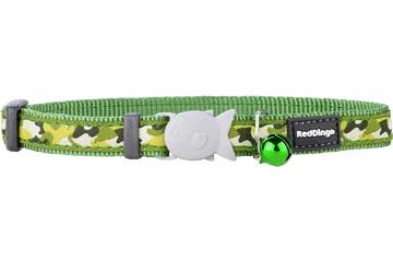 Red Dingo Cat Collar - Camouflage Green - XS