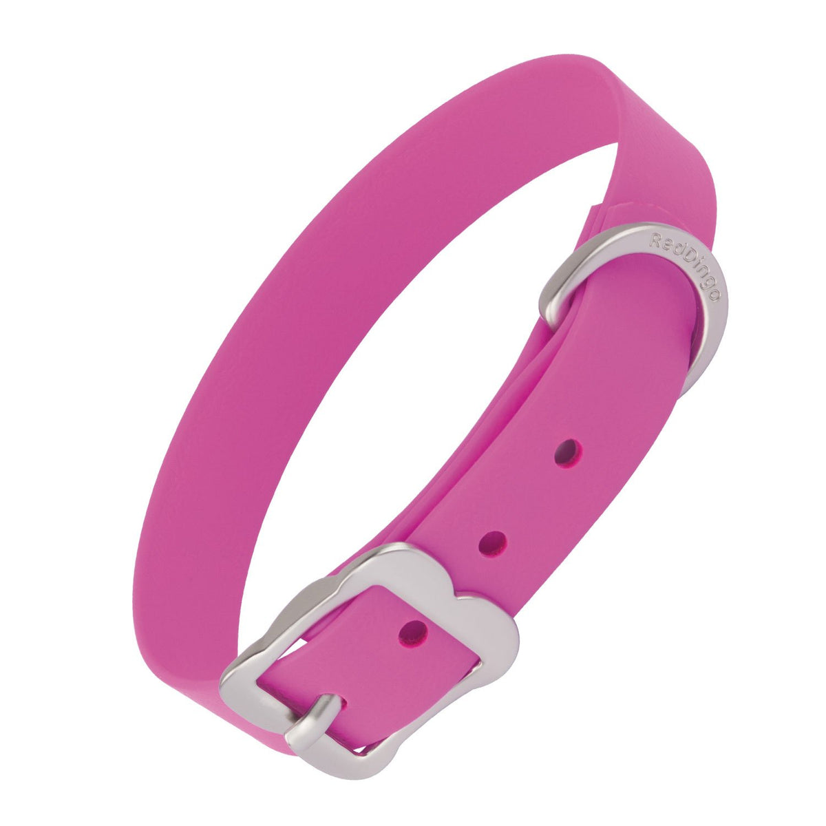 Red Dingo Vivid PVC Dog Collar - Hot Pink