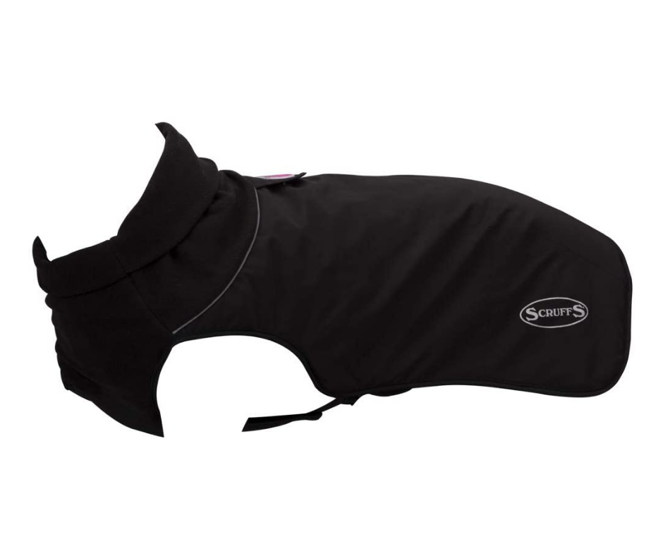 Scruffs Quilted Thermal Dog Coat - Black