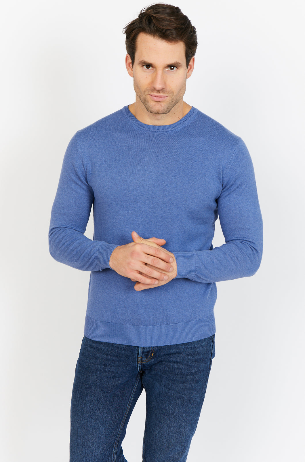 Cotton-Cashmere Crewneck Jumper