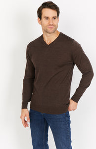 Lightweight Merino Wool V-Neck Jumper