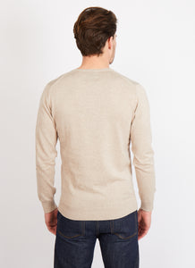 Classic Cotton V-Neck Jumper