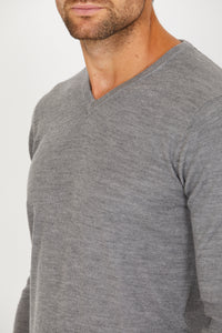 V-Neck Jumper, Merino Wool blend