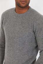 Load image into Gallery viewer, Ribbed Lambswool Crewneck Jumper