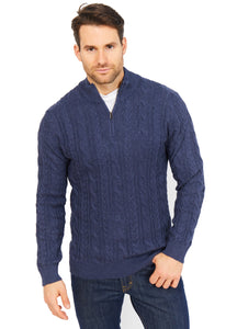 Cable Half Zip Jumper