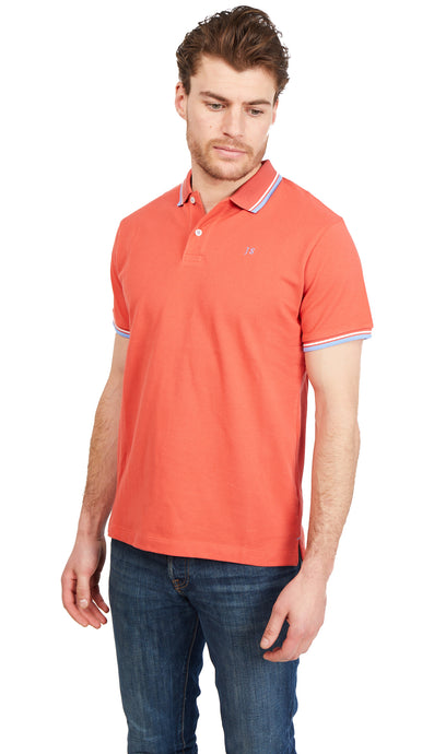 Twin Tipped Polo Shirt - Paprika