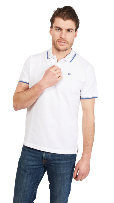 Twin Tipped Polo Shirt - White
