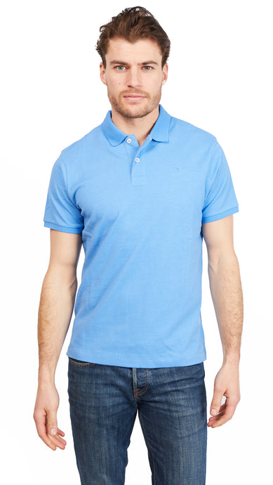 Polo Shirt Bird-Eye - Divine Blue